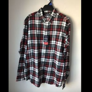 NWT Chaps Performance Flannel Button Down Shirt XL